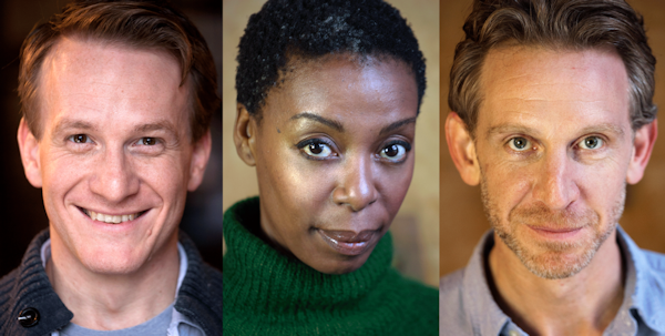 Jamie Parker, Noma Dumezweni and Paul Thornley. Photo by Simon Annand